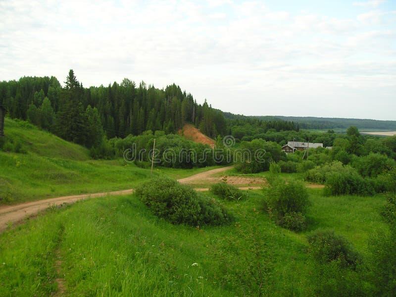 De ongelooflijk mooie aard van het Russische noorden royalty-vrije stock afbeelding