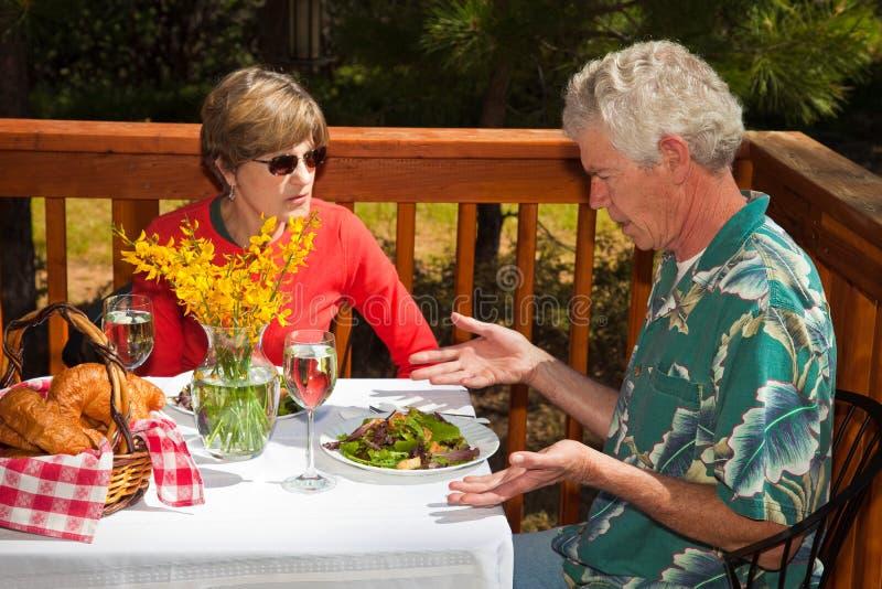 De ongelukkige Gast van het Restaurant royalty-vrije stock fotografie