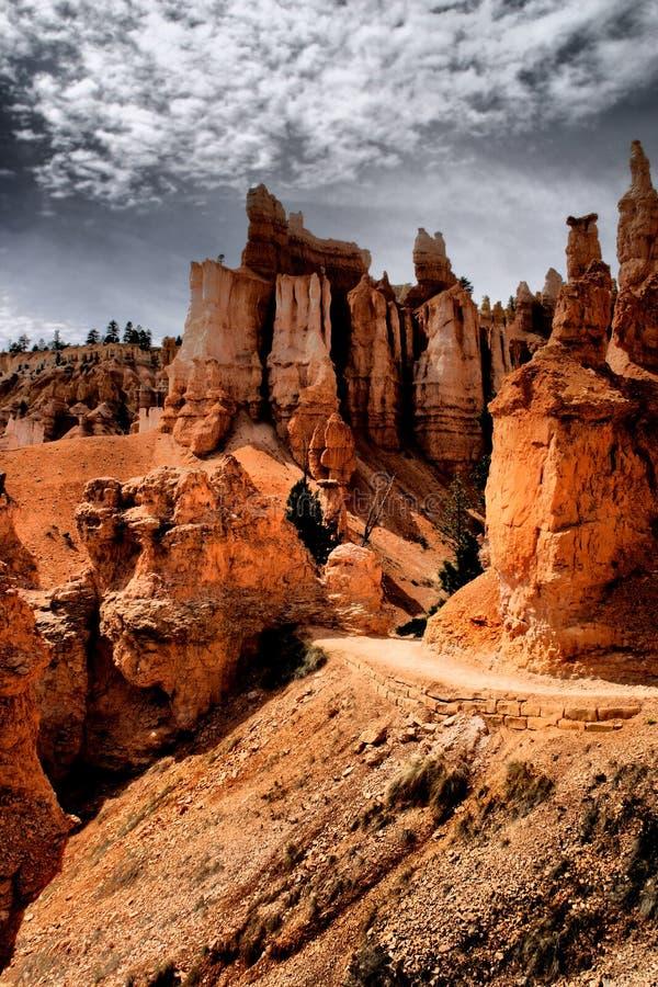 De Ongeluksboden van Bryce Canyon stock afbeeldingen