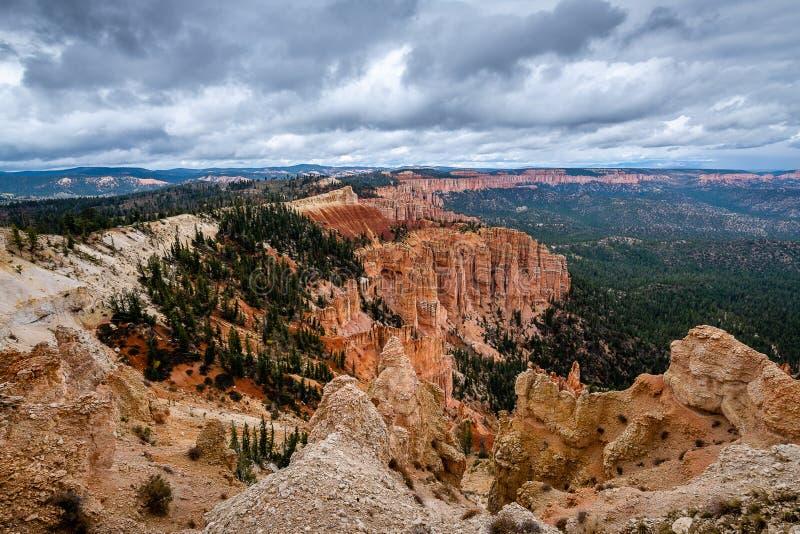 De Ongeluksboden van Bryce Canyon National Park royalty-vrije stock foto's