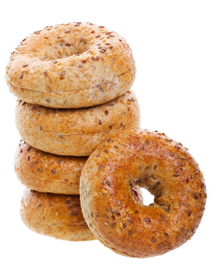 De Ongezuurde broodjes van de multi-korrel royalty-vrije stock afbeelding