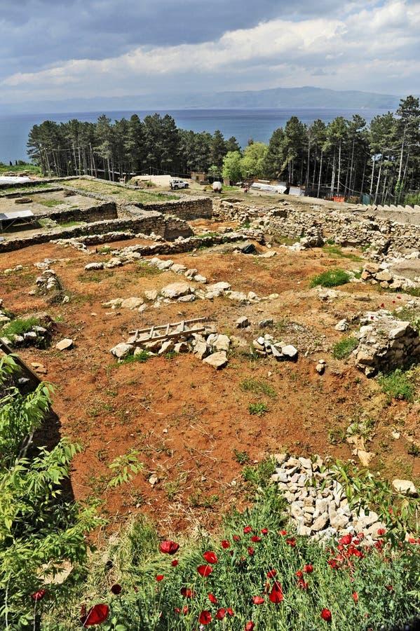 De onlangs gebouwde St Clements Churchn archeologische plaats rond onlangs gebouwde St Clements Church royalty-vrije stock afbeelding