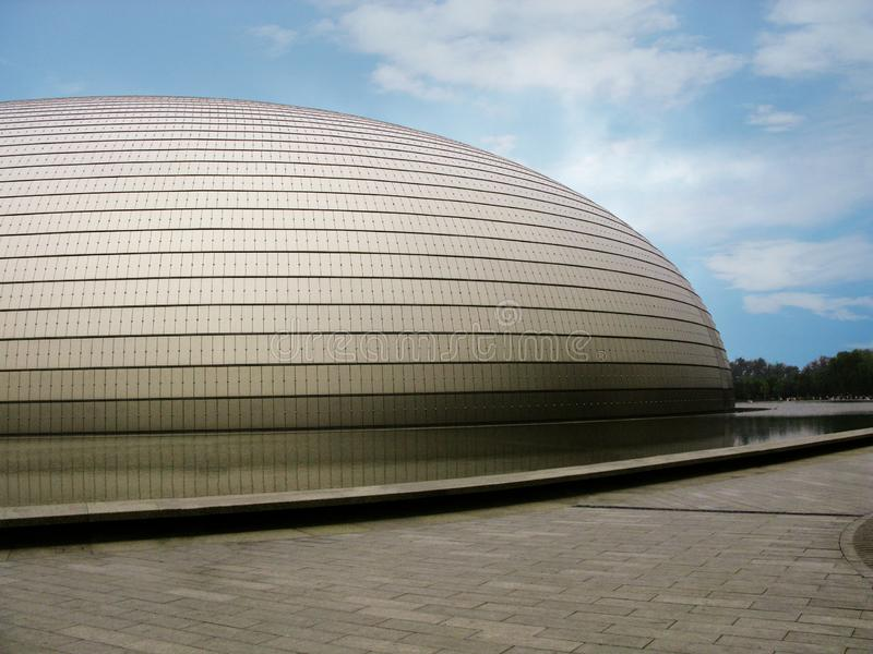 De onlangs gebouwde voorgevel van de Opera van Peking royalty-vrije stock foto