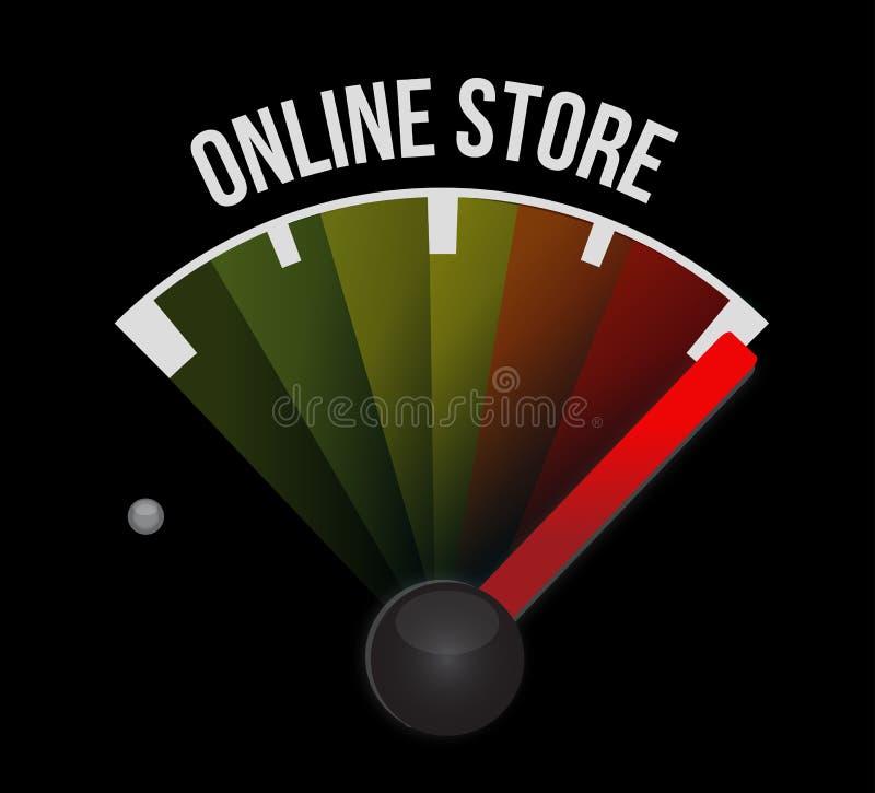 de online illustratie van het het tekenconcept van de opslagmeter royalty-vrije illustratie