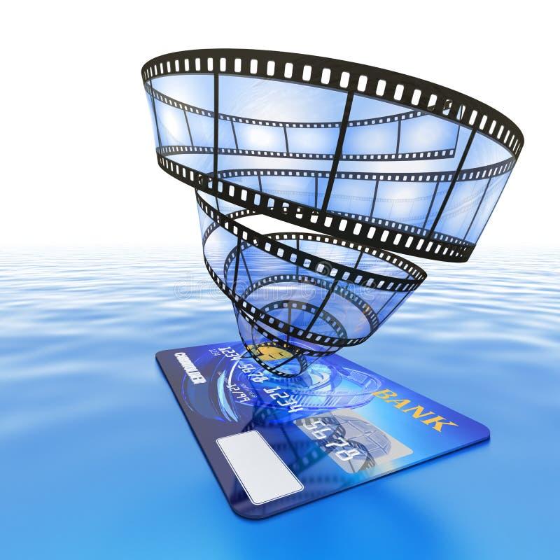 De online video van de aankoop stock illustratie
