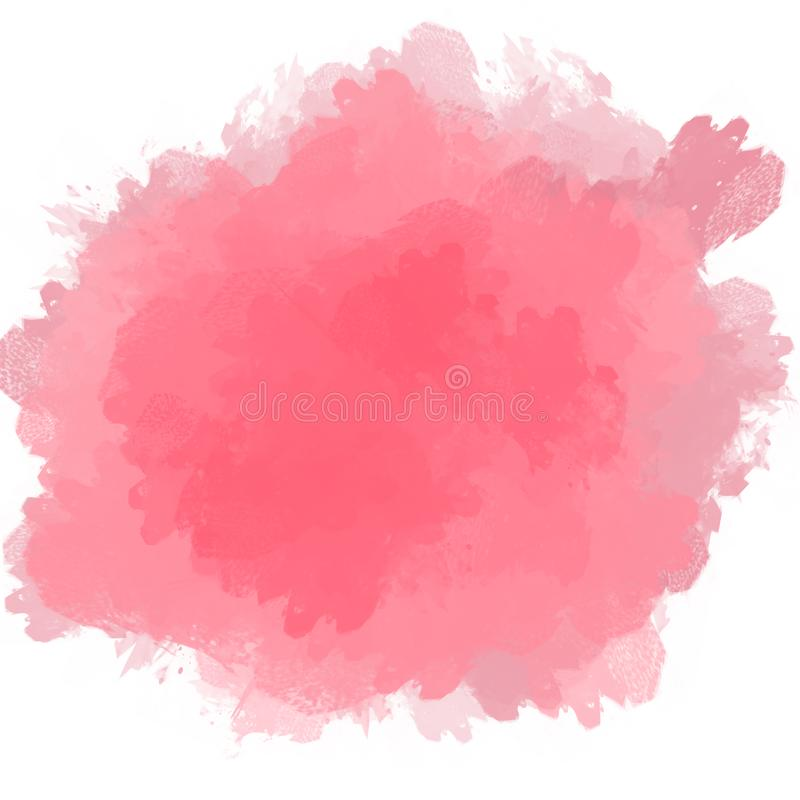 De onregelmatige roze achtergrond van de verfvlek stock fotografie