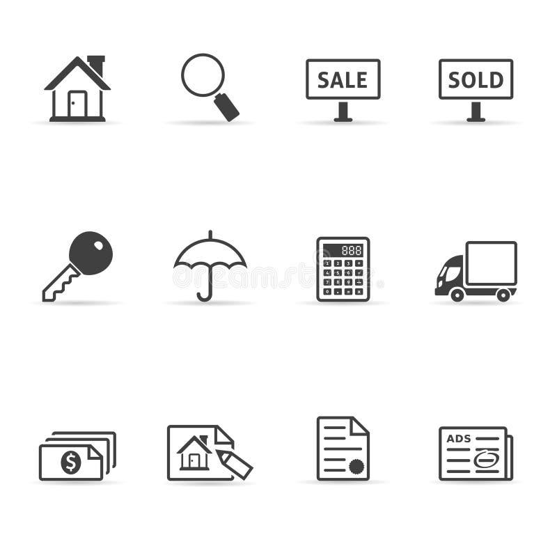 De Onroerende goederen Pictogrammen van het Web - royalty-vrije illustratie