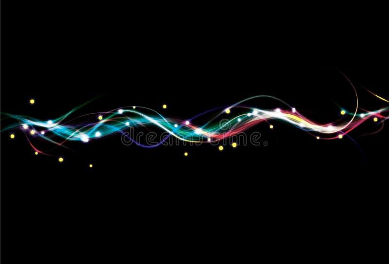 De onscherpe kleurrijke achtergrond van de lichteffectgolf royalty-vrije illustratie