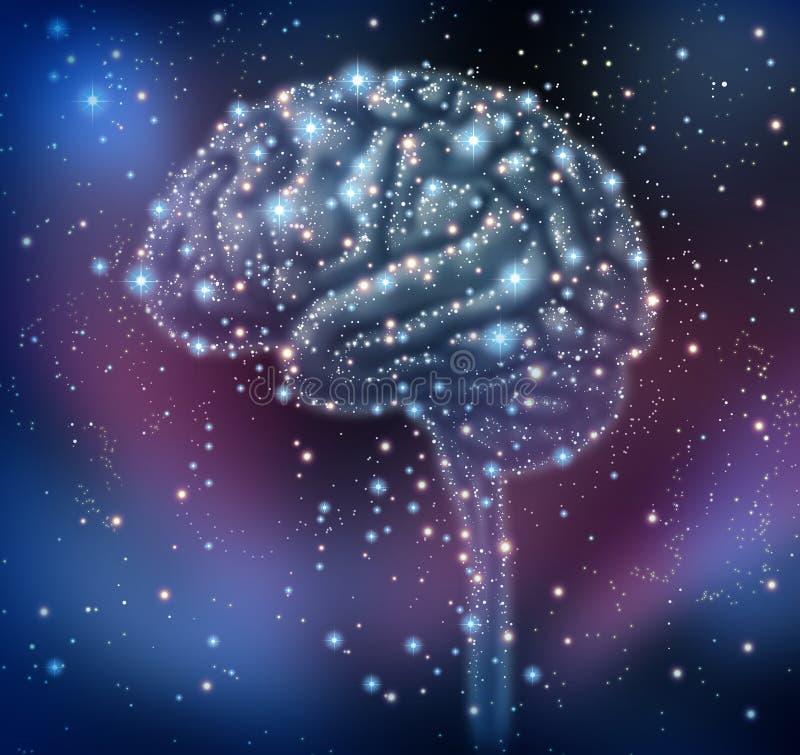 De Ontdekking van de Intelligentie van hersenen stock illustratie