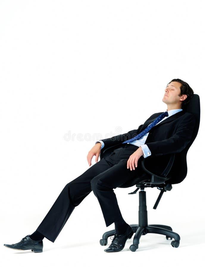 De ontspannen arbeider is vermoeid royalty-vrije stock afbeelding