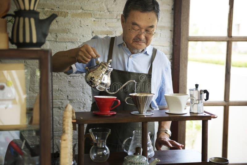 De Ontspanning van drankbarista Cafe Caffeine Drink stock fotografie