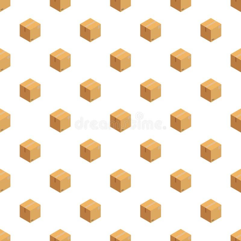 De ontvangen naadloze vector van het doospatroon stock illustratie