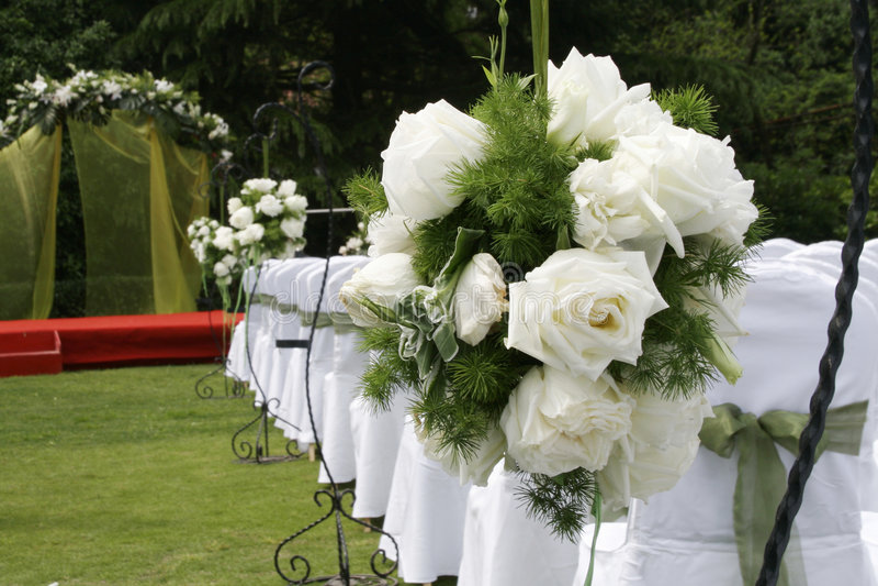 De ontvangstbloemen van het huwelijk stock afbeelding