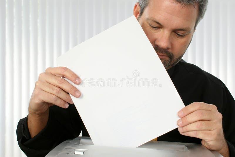 De Ontvezelmachine van het document stock fotografie