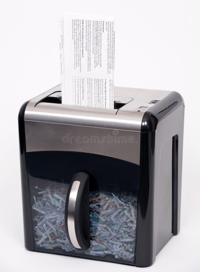 De ontvezelmachine van het document stock foto's