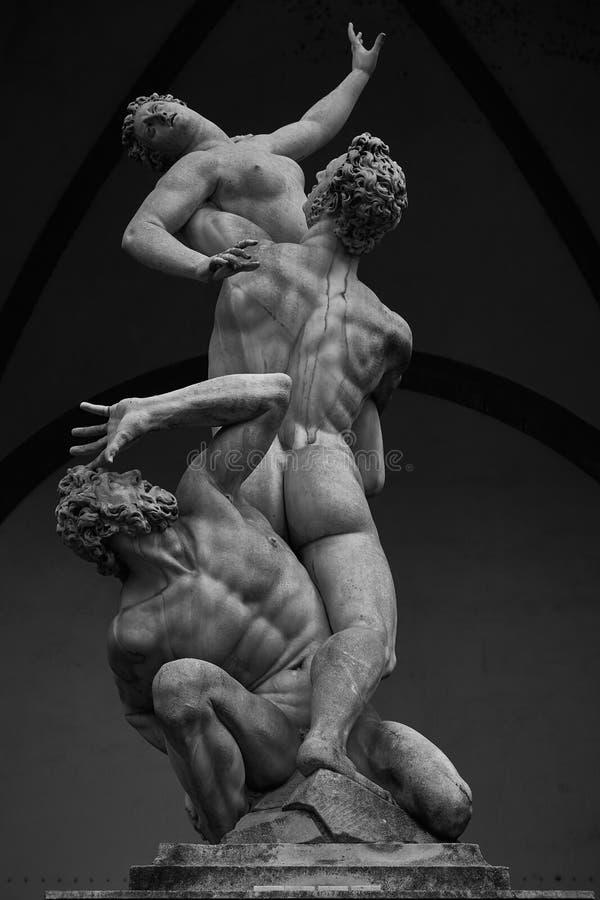 De Ontvoering van Sabine Women door Giambologna, in Loggiadei Lanzi in Florence royalty-vrije stock fotografie