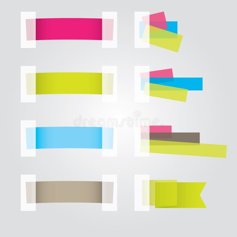 De Ontwerpen van de Sticker van de Web-pagina. Vector illustratie vector illustratie
