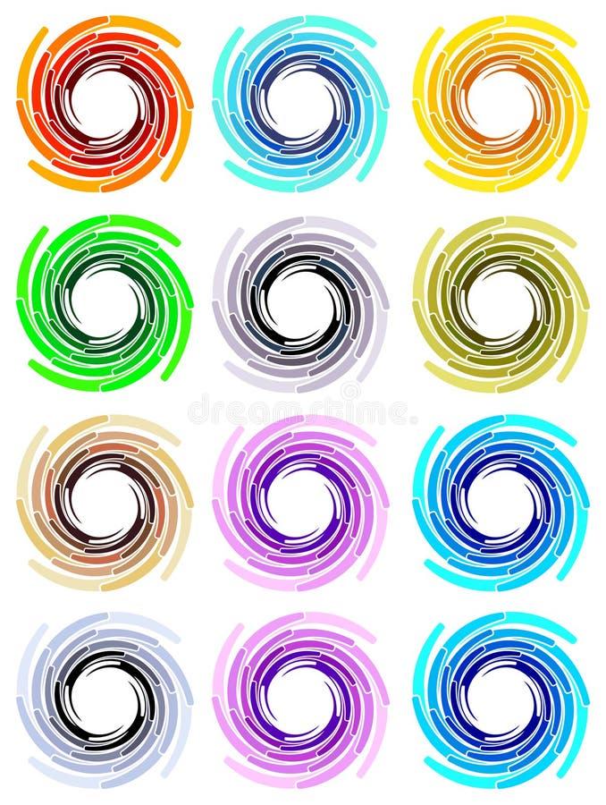 De ontwerpen van de werveling stock illustratie