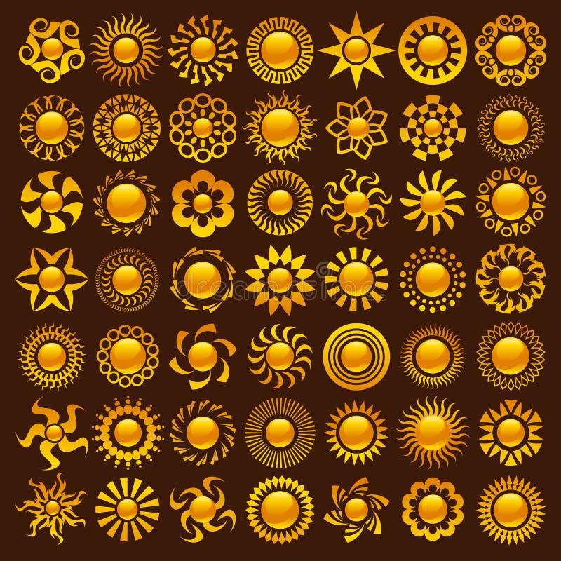 De Ontwerpen van de zon vector illustratie