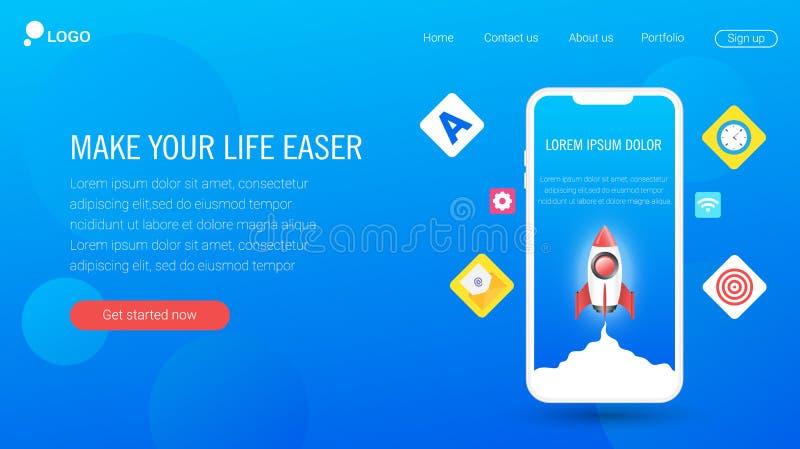 De ontwerpen van het websitemalplaatje Eps 10 stock illustratie