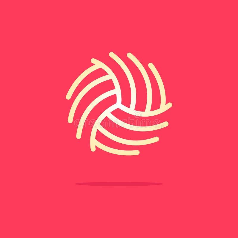 De ontwerpen van het wolembleem, de ontwerpen van het balembleem, Eenvoudig Elegant Aanvankelijk Brieventype O Logo Sign Symbol I royalty-vrije illustratie