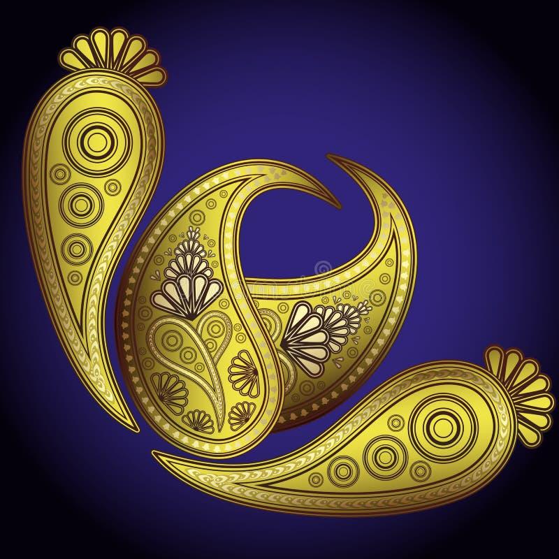 De Ontwerpen van Paisley. vector illustratie