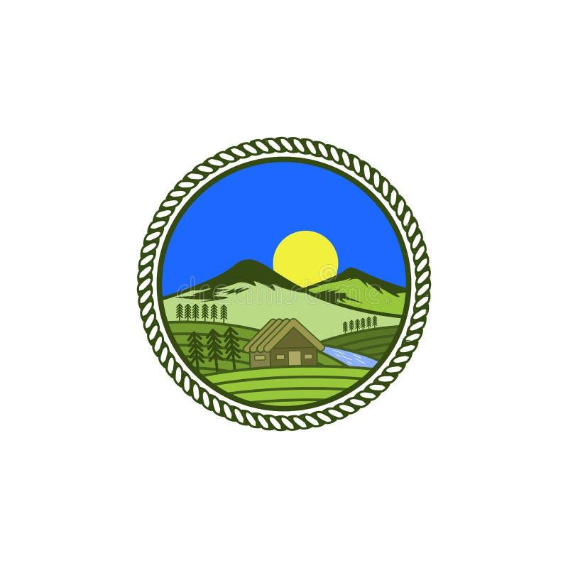 De ontwerpeninspiraties van het landbouwbedrijfembleem royalty-vrije illustratie