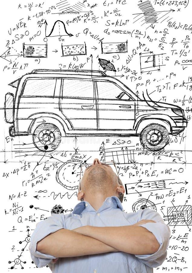De Ontwerper van de auto stock afbeeldingen