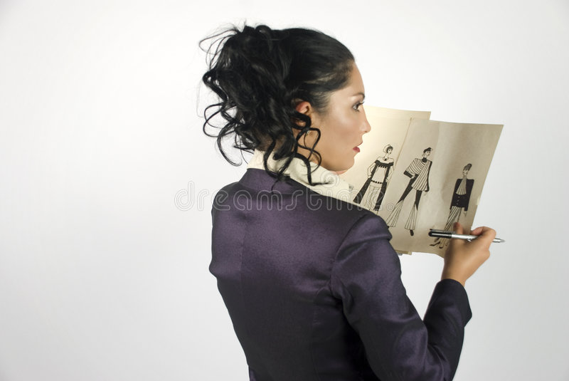 De ontwerper van de manier stock foto's