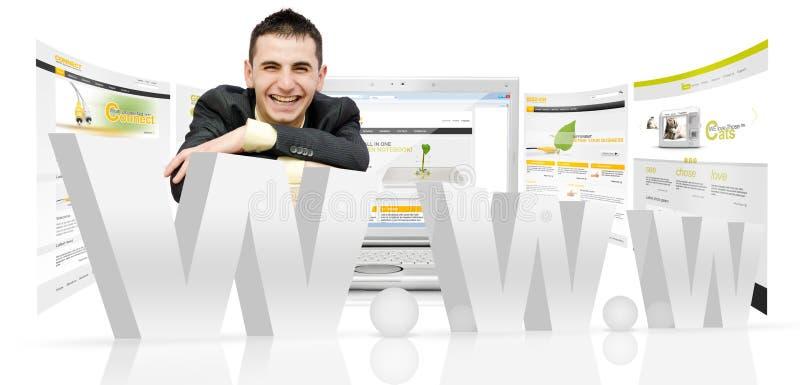 De ontwerper van het Web stock afbeeldingen