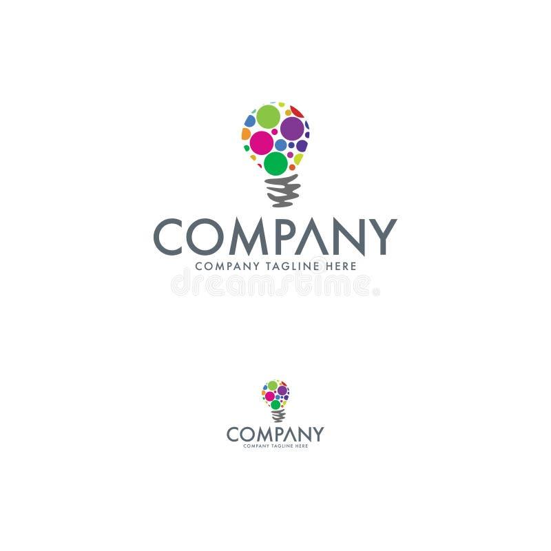 De ontwerpsjabloon van het ideeembleem Het element van het bedrijfembleem royalty-vrije illustratie