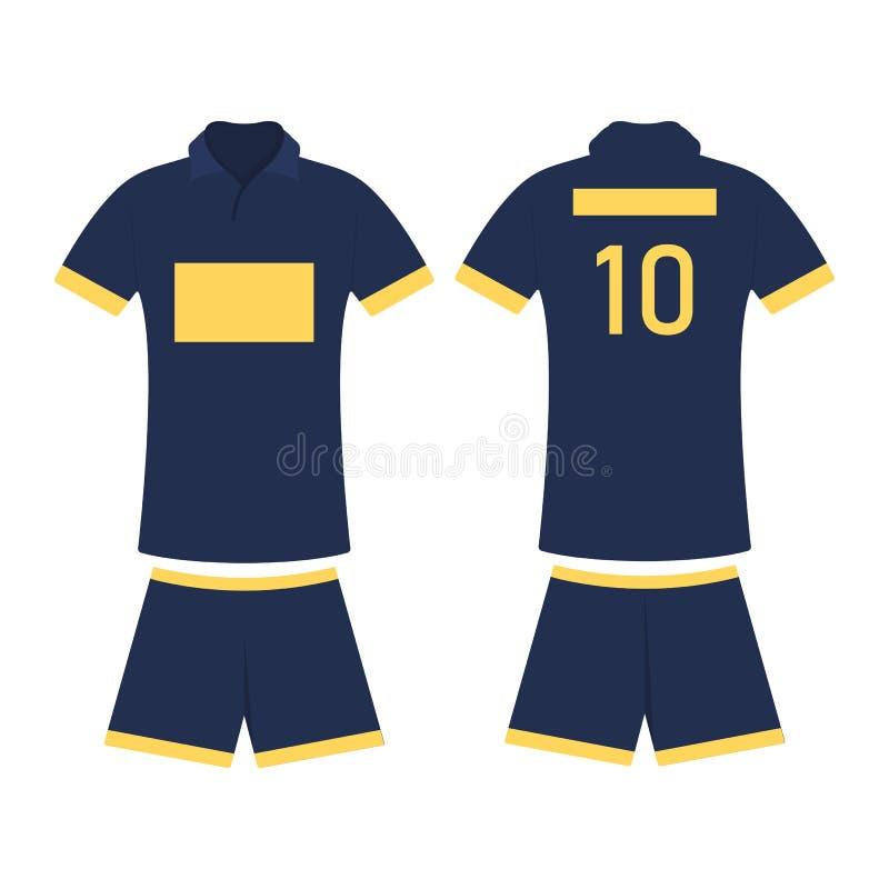 De ontwerpsjabloon van de t-shirtsport voor voetbal Jersey, vectorillustratie vector illustratie
