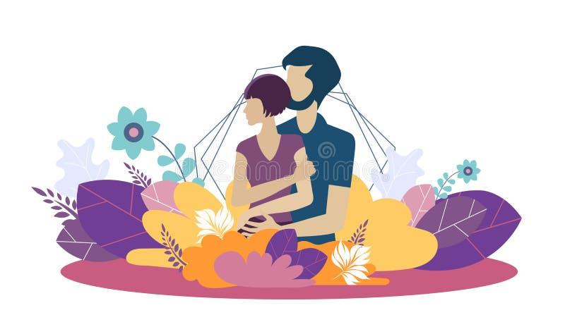 De ontwerpsjabloon van de WebWebpagina voor groeiende familie, gezond en veilig milieu voor de familie Moderne vectorillustratie royalty-vrije illustratie