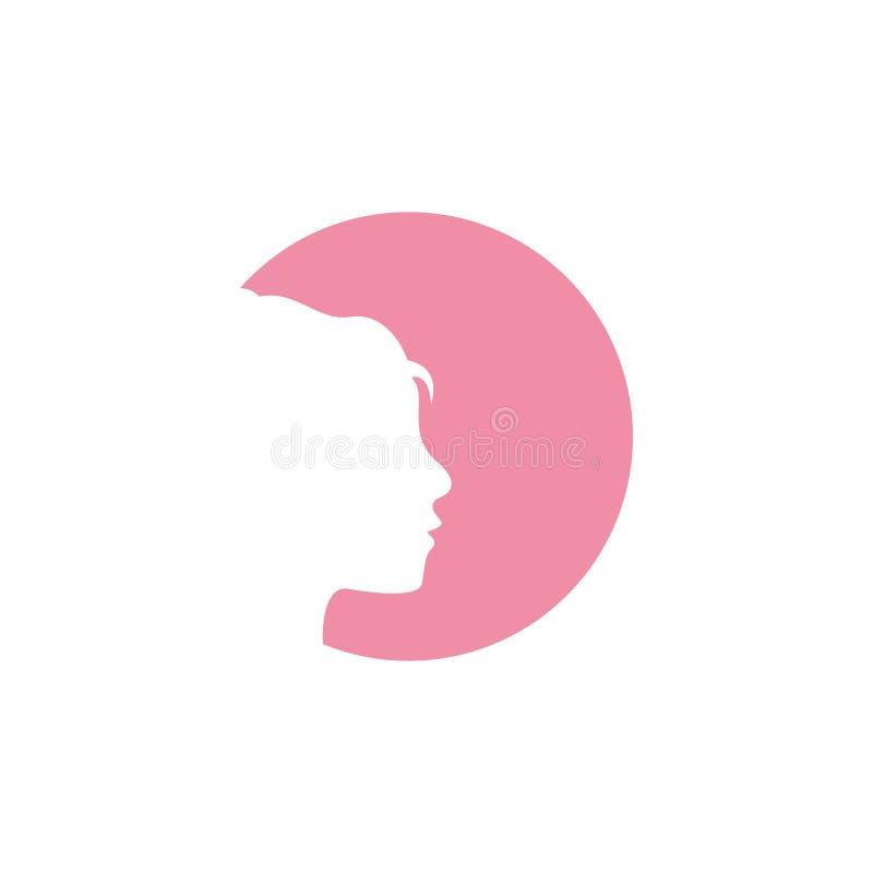 De ontwerpsjabloon vectorillustratie van het vrouwen grafische pictogram vector illustratie
