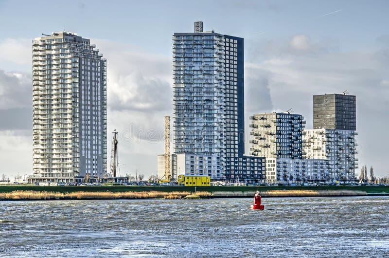 De ontwikkeling van de Spijkenissewaterkant stock afbeelding
