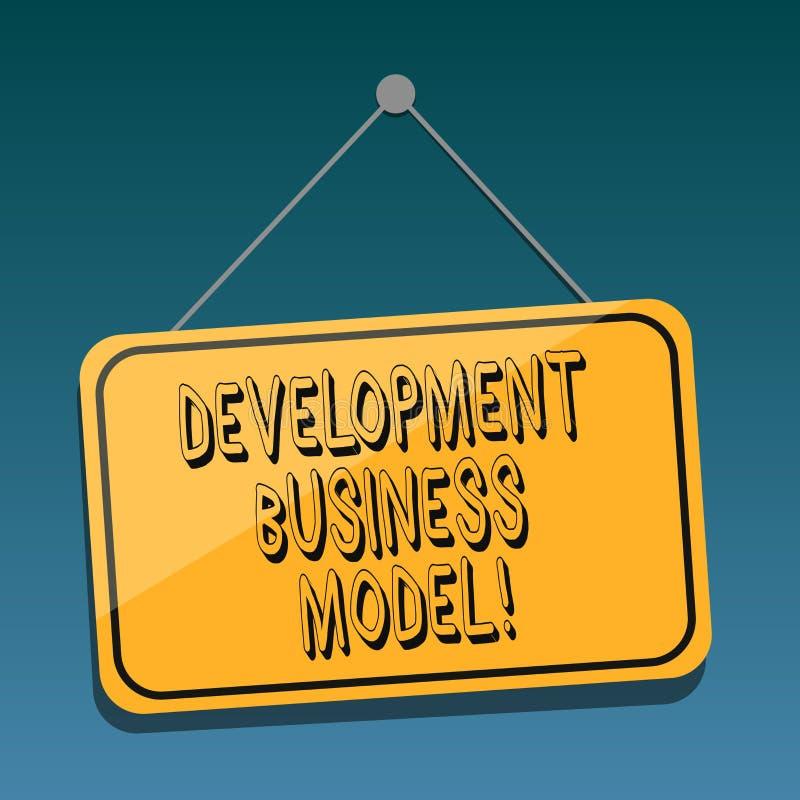 De Ontwikkelings van de bedrijfs handschrifttekst Model Concept die reden betekenen van hoe een organisatie het Lege Hangen creee vector illustratie