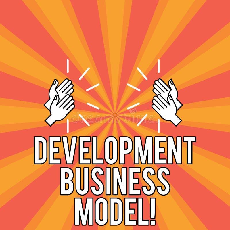 De Ontwikkelings van de bedrijfs handschrifttekst Model Concept die reden betekenen van hoe een organisatie Tekening van HU creee vector illustratie