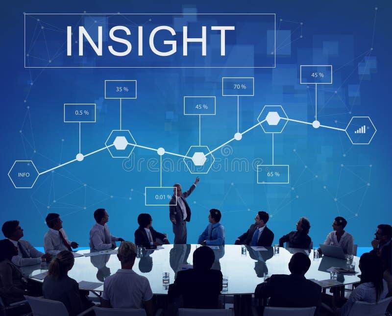 De Ontwikkelingsconcept van Analytics van bedrijfsinzichtsstatistieken stock foto's