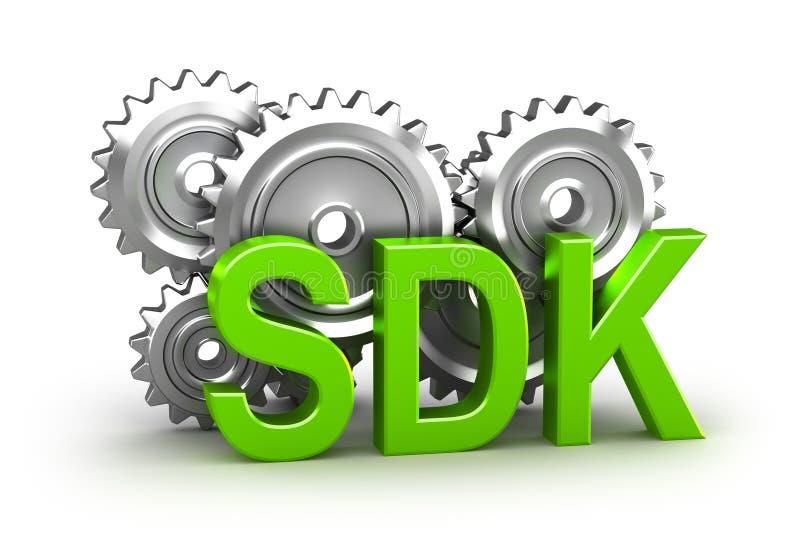De ontwikkelingsuitrusting van de software stock illustratie