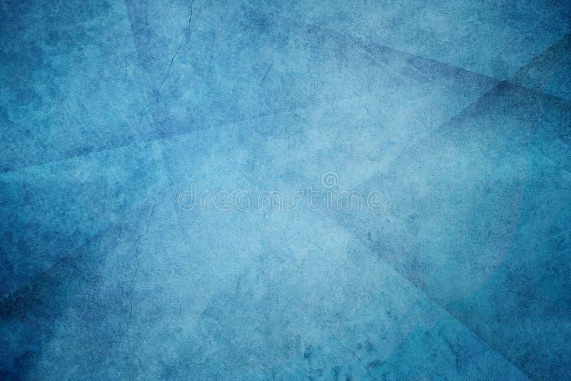 De ontworpen blauwe abstracte achtergrond van de grungetextuur stock foto's