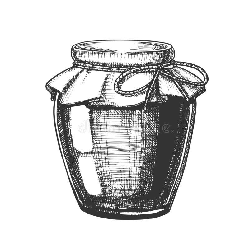 De ontworpen Eigengemaakte Vector van de de Flessenclose-up van het Jamglas royalty-vrije illustratie