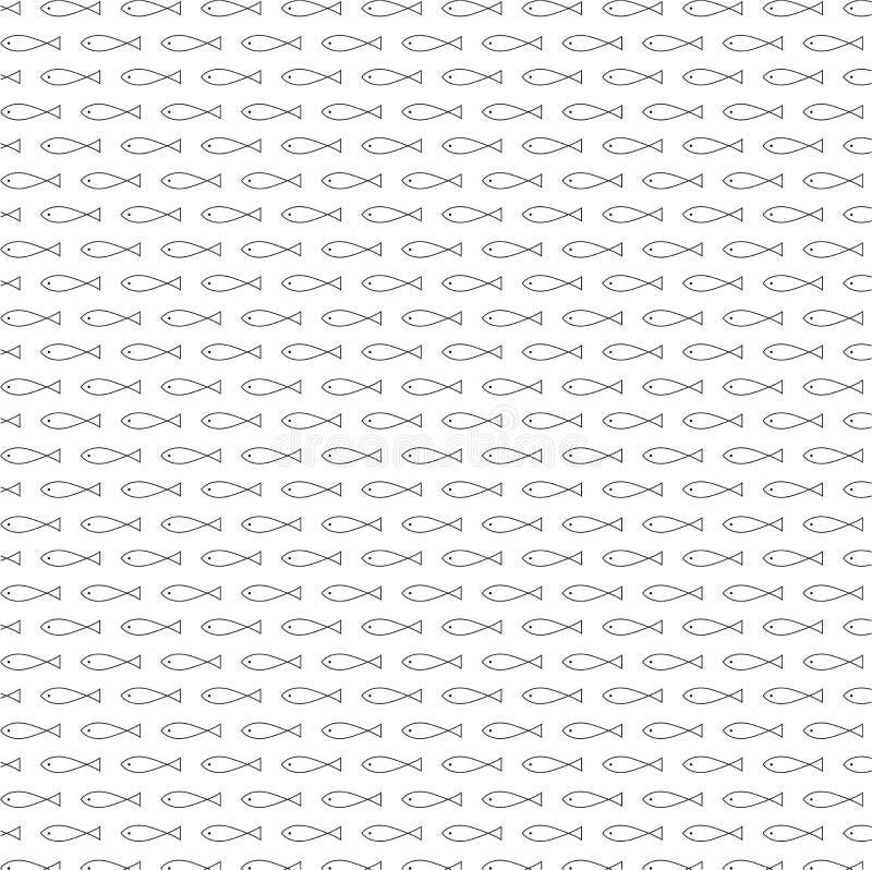 De ontzagwekkende vector van het vissen naadloze patroon stock illustratie