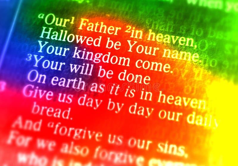 De Onze Vader - Onze Vader in hemel royalty-vrije stock foto
