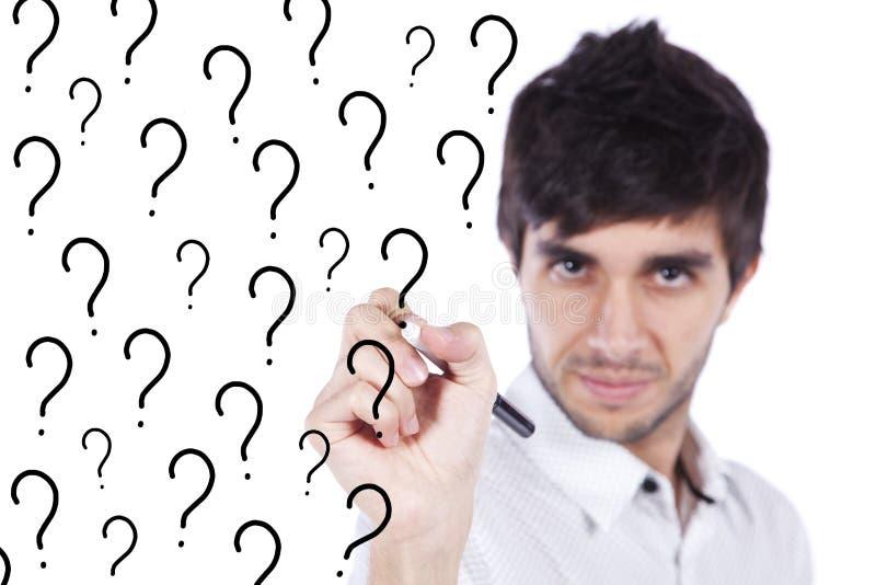 De Onzekerheid Van Vele Vragen Royalty-vrije Stock Afbeelding