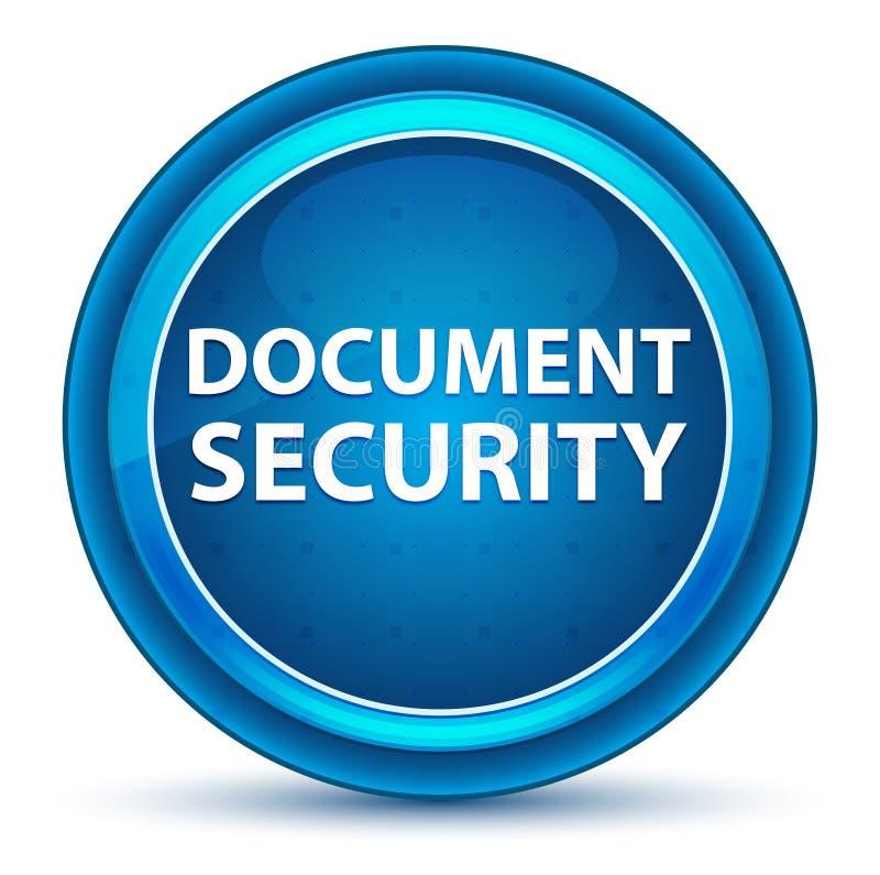 De Oogappel Blauwe Ronde Knoop van de documentveiligheid stock illustratie