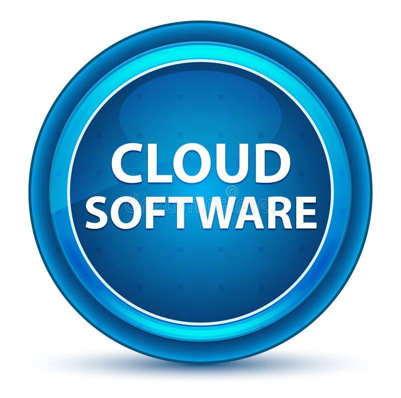 De Oogappel Blauwe Ronde Knoop van de wolkensoftware vector illustratie