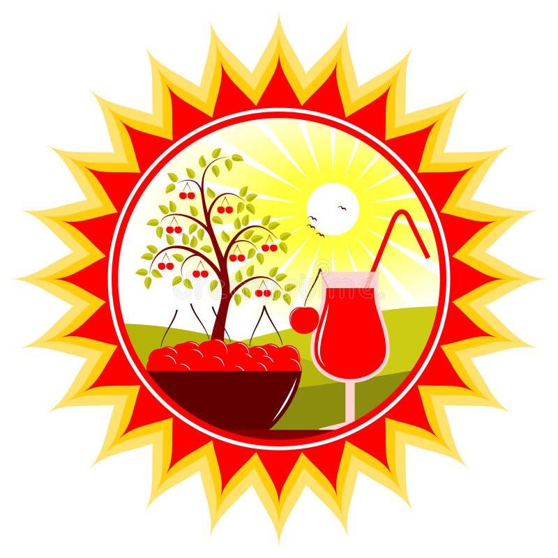De oogst van de kers vector illustratie