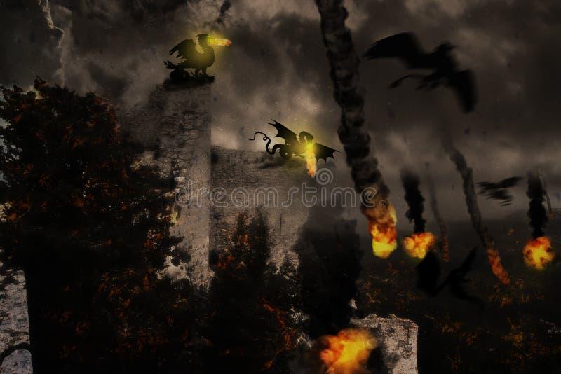 De oorlog van de draak stock illustratie
