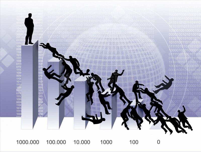 De oorlog van grafieken royalty-vrije illustratie