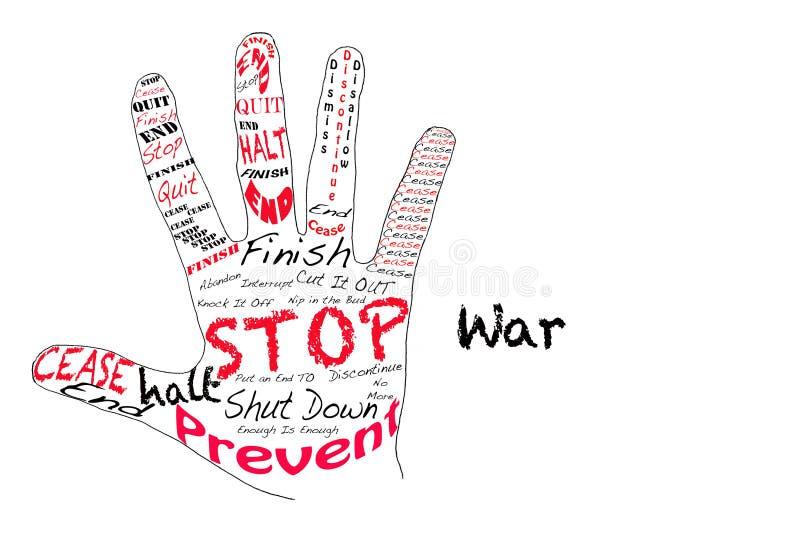 De oorlog van het einde stock illustratie
